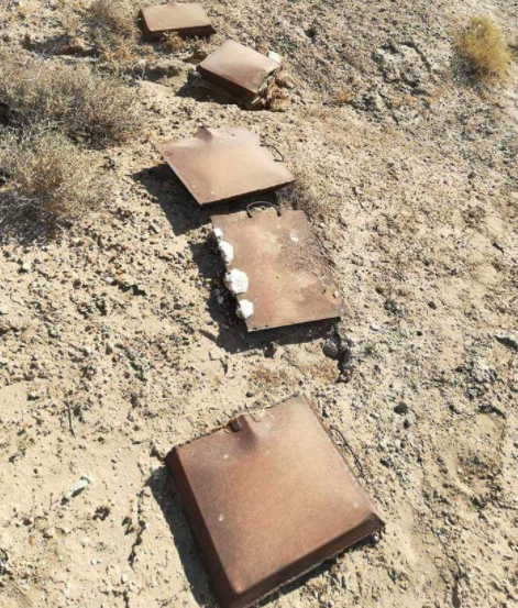 ISIS's IEDs located by the Iraqi army northwest of Baghdad (Facebook page of the Iraqi Defense Ministry, September 26, 2020).