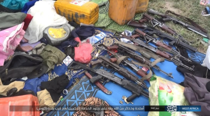 Weapons, ammunition and equipment of the Nigerian army seized by ISIS operatives (Telegram, September 27, 2020)