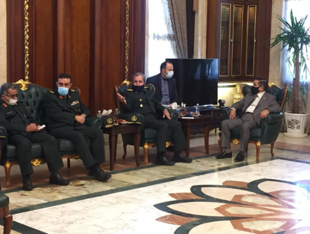 The meeting between the Iranian deputy chief of staff on international affairs with the Iraqi minister of defense (IRNA, September 27, 2020)