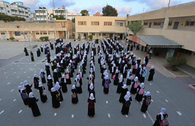Schools reopen in Beit Lahia in the northern Gaza Strip (Beit Lahia municipality Facebook page, October 10, 2020).
