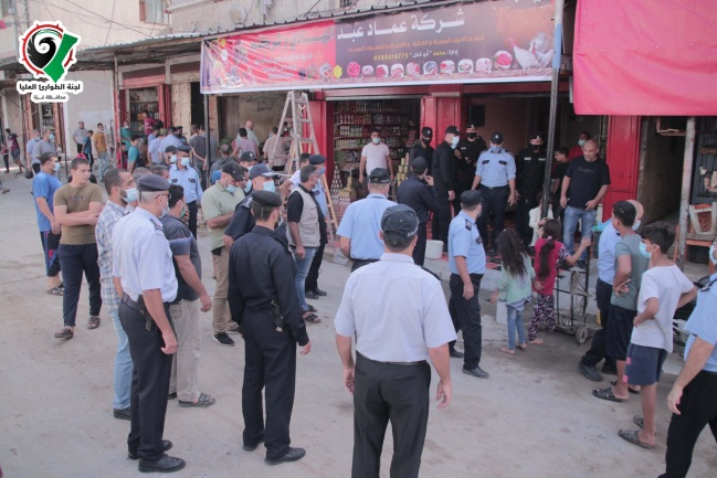 The market in the al-Shati refugee camp reopened on October 11, 2020 (Facebook page of the Covid-19 emergency committee in the Gaza district, October 11, 2020).