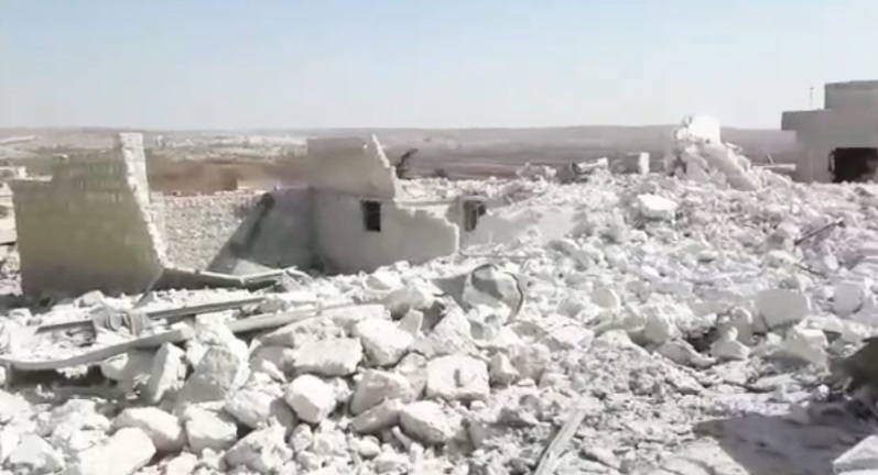 The house of Qutaiba al-Barsha which was demolished by HTS (Khotwa, October 11, 2020)