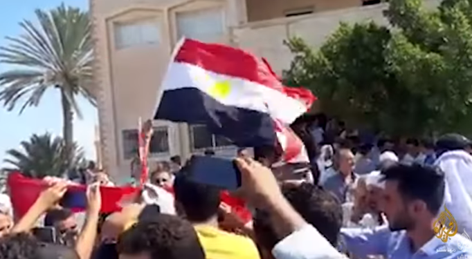 Demonstration by villagers demanding to return to their homes (Al-Jazeera, October 5, 2020)