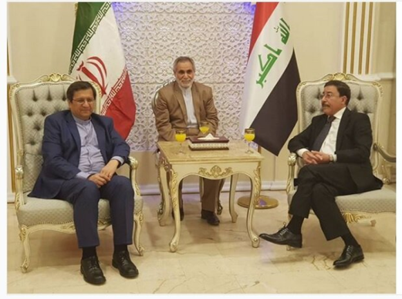 The meeting of the governors of the Iraqi and Iranian central banks (Tasnim, October, 2020).