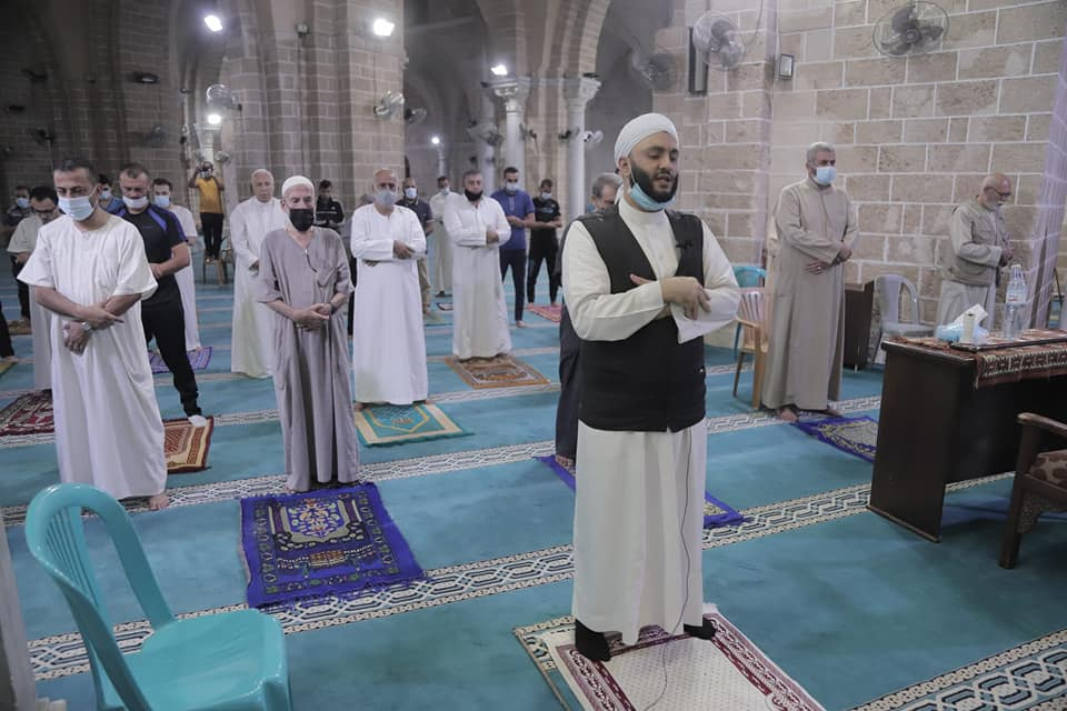 Prayers in the mosques renewed (Facebook page of the Covid-19 emergency committee in the Gaza district, October 18, 2020)