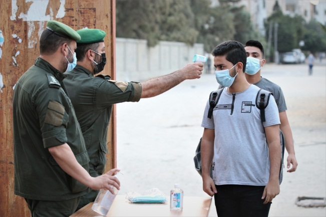 National security officers to go schools to instruct students about Covid-19 (ministry of health in Gaza website, October 15, 2020)