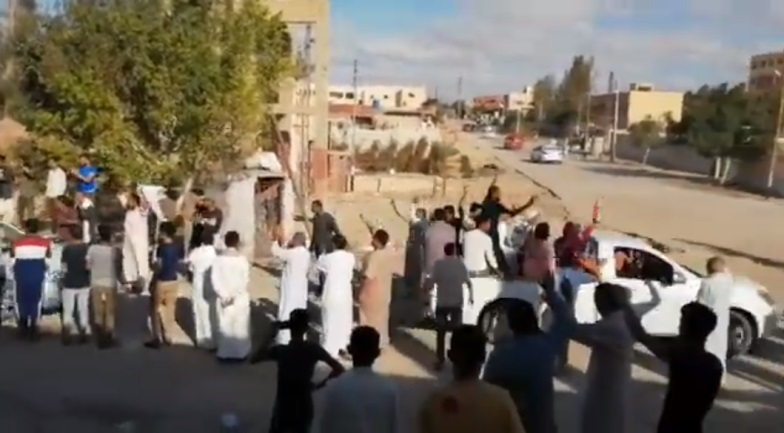 Residents of the village of Qatia returning to their homes (Qatia News YouTube channel, October 12, 2020)