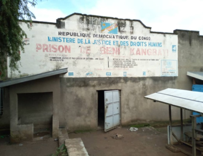 Kangbayi Central Prison (John Kanyunyu@Kanyunyu Twitter account, owned by a freelance journalist from the city of Beni, Democratic Republic of Congo, October 20, 2020).