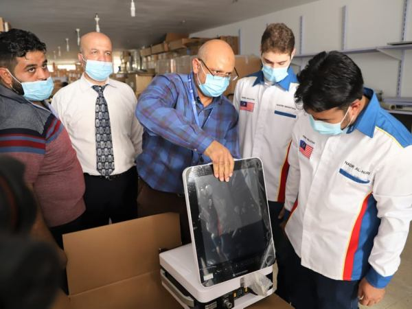 Delivery of medical equipment from Malaysia (website of the ministry of health in Gaza, October 25, 2020).