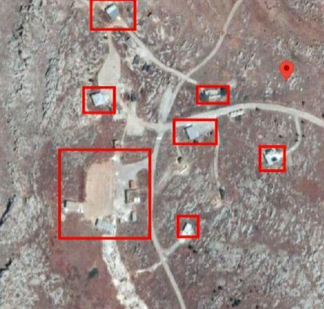 Faylaq al-Sham training camp which was attacked by Russian fighter jets. The large compound on the bottom left was apparently the main target of the attack (almodon.com, an electronic newspaper operating from Beirut, Lebanon, October 26, 2020).