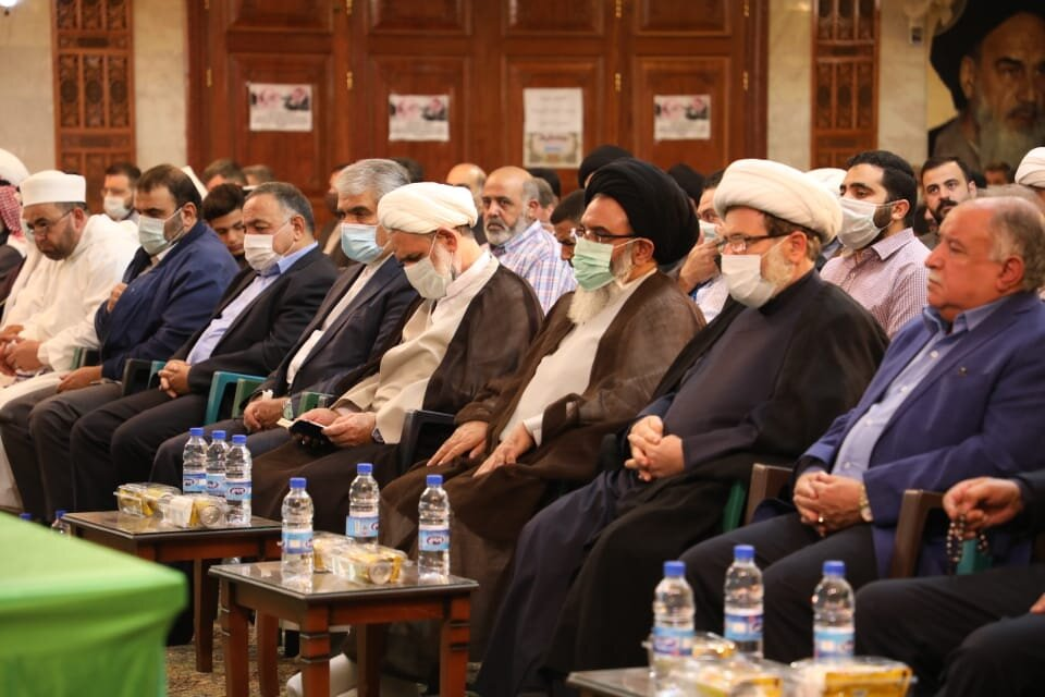 The ceremony marking the replacement of the representative of the supreme leader of Iran to Syria (HawzahNews.ir, October 25, 2020)