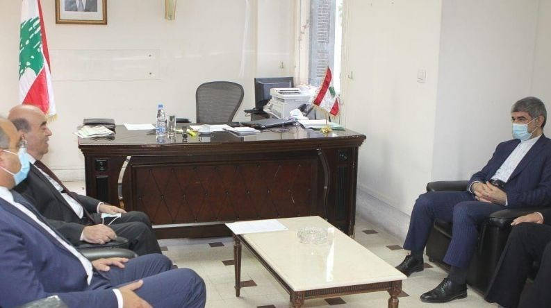 The meeting between the Iranian ambassador to Beirut with the Lebanese minister of foreign affairs (Tasnim, October 20, 2020)