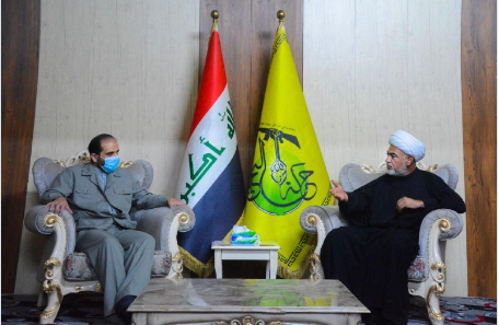 The meeting of the Iranian consul to Karbala with the representative of Harakat al-Nujabaa (Telegram channel of the militia, October 22, 2020)