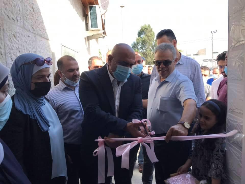 Opening the emergency ward (Facebook page of the Jenin district governor, October 27, 2020).