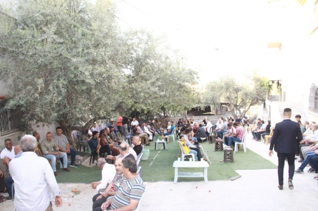 The event held for the signing of the marriage broker's agreement in Yamun (Facebook page of alyamun.alhabeba, October 301, 2020).