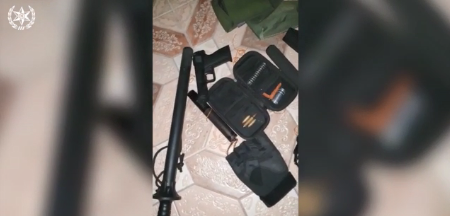 Weapons found in the homes of the two suspects (Israel Police Force spokesman's unit, October 29, 2020)