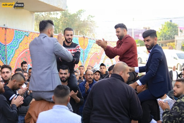 A wedding in the village of Sanur (Facebook page of the Firas al-Awna Studio in the Jenin district, November 6, 2020).