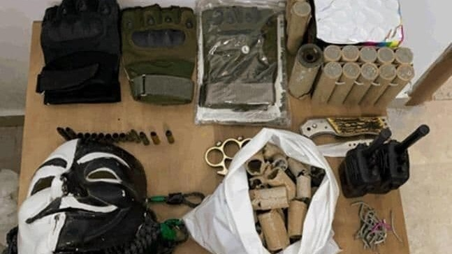 Equipment seized in the home of one of the minors.