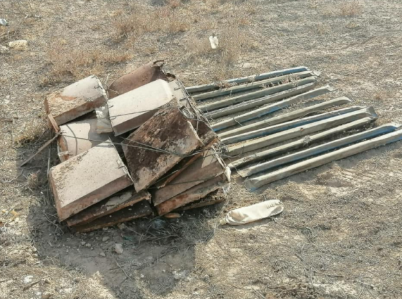 ISIS IEDs and tripwires located in the Al-Karma area (Facebook page of the Iraqi Defense Ministry, November 5, 2020)