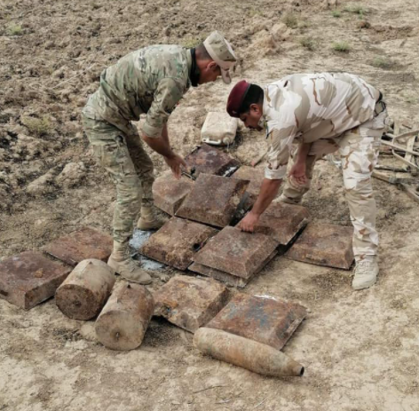 ISIS's IEDs located south of Kirkuk (Facebook page of the Iraqi Defense Ministry, November 7, 2020)
