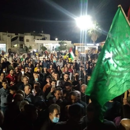 Reception held in the town of Sebastia for Hamas terrorist Samer Yahya Muhammad Darwish, who was released from an Israeli jail after having 19 years. No masks, no social distancing