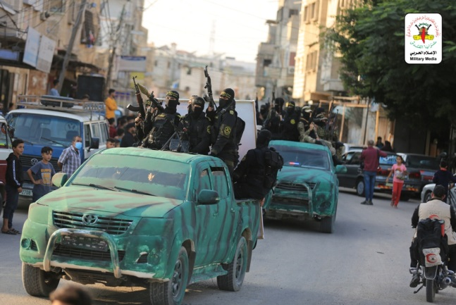 The Jerusalem Brigades' military display in Gaza (Jerusalem Brigades website, November 12, 2020).