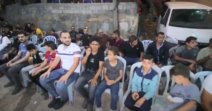 wedding in Barta'a al-Sharqia, in the PA. No masks, no social distancing (Omar Studio on YouTube, October 7, 2020).