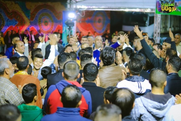 A wedding in the village of Ra'i (Facebook page of Rotana Recording from Ra'i, November 19, 2020)