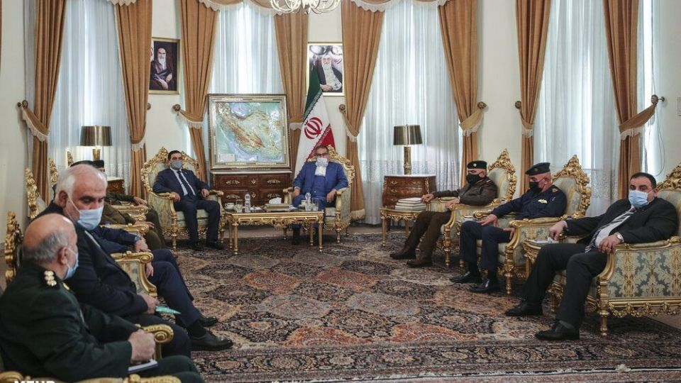 The meeting of the Iraqi minister of defense with the Iranian secretary of the Supreme National Security Council (Mehr, November 15, 2020)