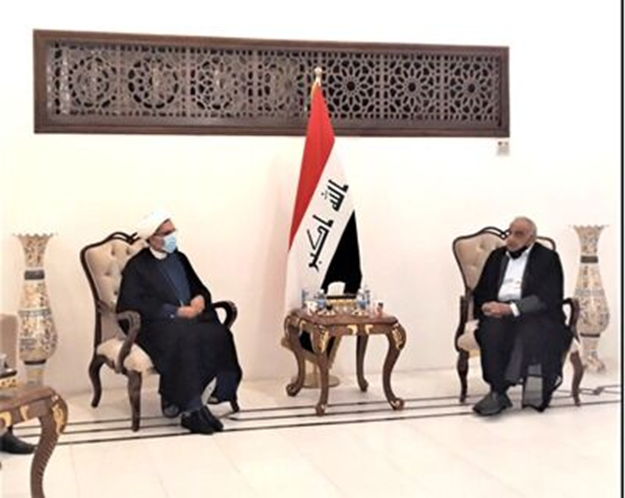 The meeting of the former Iraqi prime minister with the Iranian cultural attache to Baghdad (IRNA, November 22, 2020)