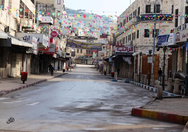 A street in Nablus during the lockdown (Palinfo Twitter account, November 28, 2020).