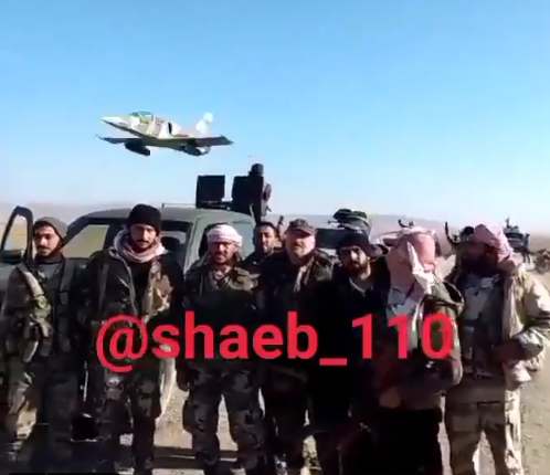 Fighters of forces supporting the Syrian army in an operation against ISIS in the desert region (khaleedalkhteb Twitter account, November 28, 2020)