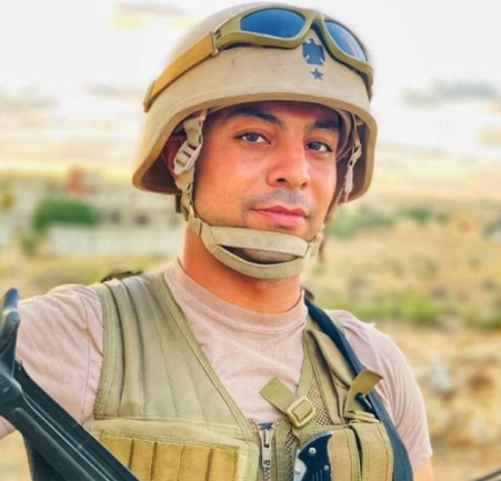 Lieut. Col. Mohammad Hamed, who was severely wounded in the Bir al-Abd region (Shahed Sinaa – al-Rasmia Facebook page, November 26, 2020)