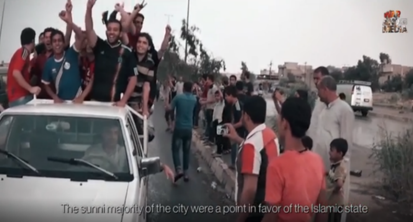 Mosul residents welcoming ISIS operatives as they take control of the city (Telegram, November 27, 2020)