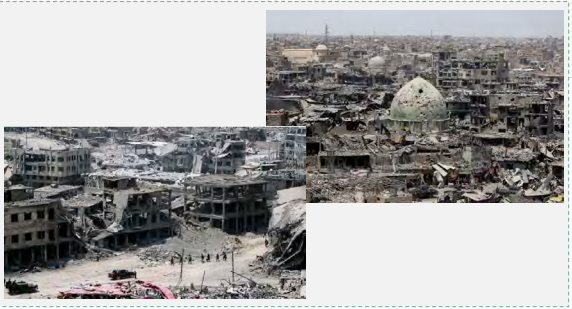 The extensive destruction caused to the city of Mosul during its liberation from ISIS (Al-Alam, July 10, 2017)