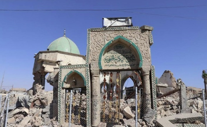 The ruins of the Great Mosque of Mosul (shafaqna.com, June 27, 2020).