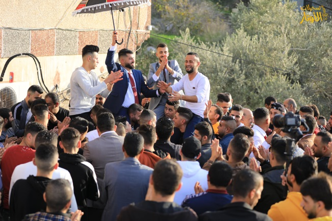 A wedding in Kafr al-Attara in the Jenin district (Facebook page of awtar.recording, December 5, 2020).