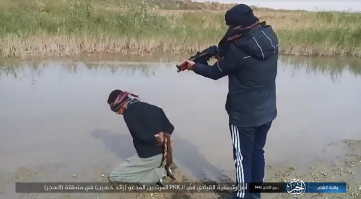 Execution of the SDF commander captured by ISIS.