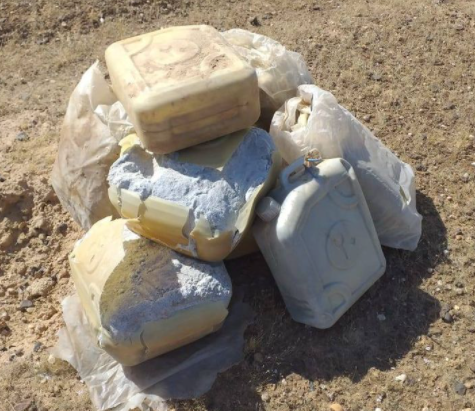 IEDs consisting of 20-liter canisters filled with C4 plastic explosives, found by the Iraqi army (Facebook page of the Iraqi Defense Ministry, December 3, 2020).