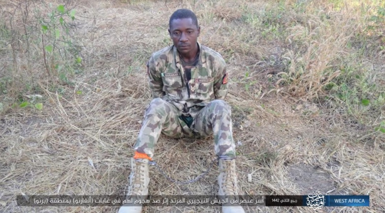 Nigerian soldier captured by ISIS in a battle that took place east of Maiduguri (Telegram, December 8, 2020).