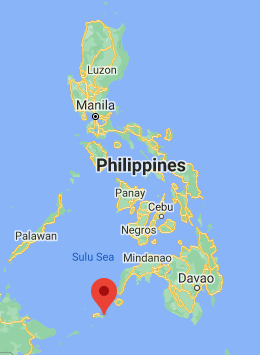 Omar, in the Sulu archipelago in the southern Philippines (Google Maps)