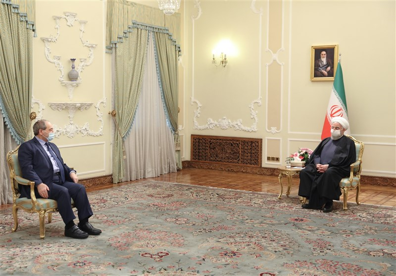 The meeting between President Rouhani and the Syrian minister of foreign affairs (Tasnim, December 8, 2020)