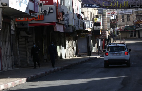 The general lockdown in the city of Nablus (Wafa, December 11, 2020).