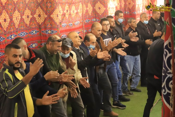 A wedding in the Kafr Ra'i, southwest of Jenin (Facebook page of Rotana Recording from Kafr Ra'i, December 11, 2020).