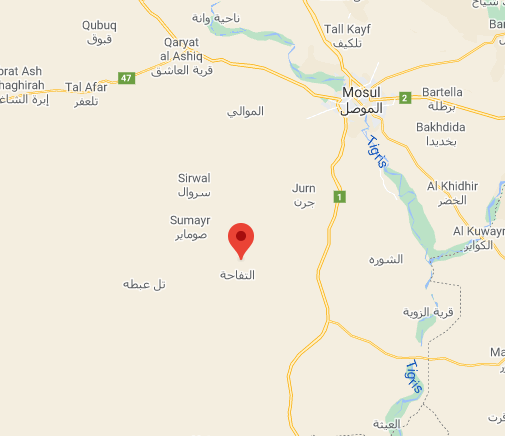 The site of the operation against ISIS (Google Maps).