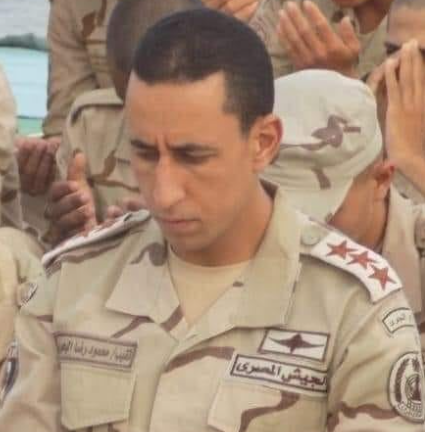 Major Mahmoud Rida of the Egyptian army air defense (Shahed Sinaa – al-Rasmia Facebook page, December 11, 2020)
