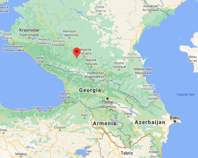 The village in the Republic of Karachay-Cherkessia where the attack was carried out (Google Maps)