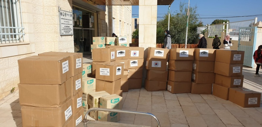 Medical aid from the Korean Agency for International Cooperation (Facebook page of the ministry of health in Ramallah, December 20, 2020).