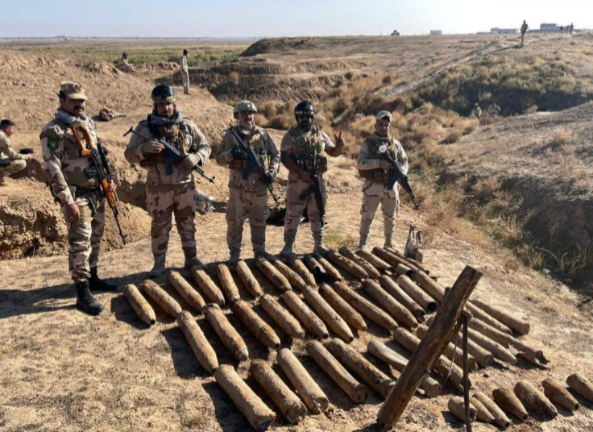 Rockets found in the weapons depot (Facebook page of Iraqi Army Spokesman Yahya Rasoul, December 20, 2020)