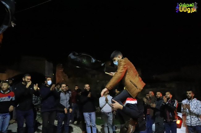 Reception held in the village of Ra'i for a Palestinian Islamic Jihad (PIJ) prisoner released from an Israeli jail (Facebook page of Rotana Recording, December 21, 2020).